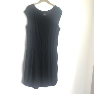 Athleta Black Dress Cap Sleeves Size M